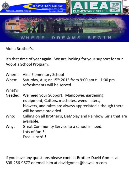Aiea Elementary School Clean Up