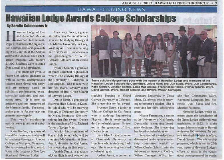 Scholarship NewsPaper 2017