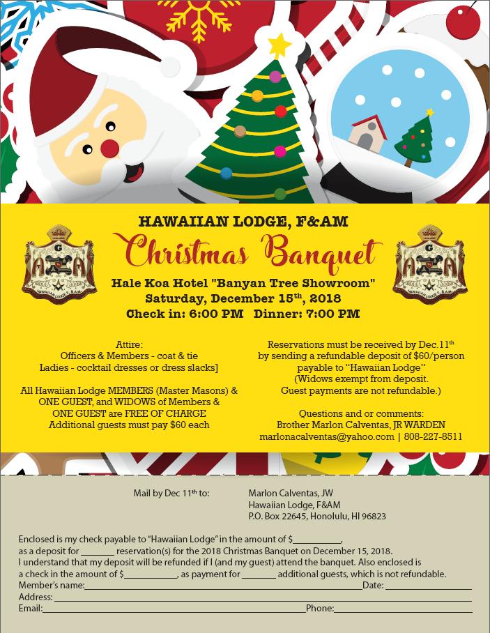 Christmas In Hawaii Party.Hawaiian Lodge F Am Hawaii Freemasonry Featured Event